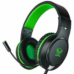 Gaming Headset for Xbox One, Nintendo Switch, ifmeyasi Stereo Bass Surround Headsets, Over-Ear Headphones with Noise Cancelling Micophone for Laptop PC Mac iPad Smartphones (Green) Gaming Headset, Gaming Headphones, Headphones With Microphone, Headphone With Mic, In Ear Headphones, Nintendo Switch, Nintendo 3ds, Manette Xbox One, Professional Headphones