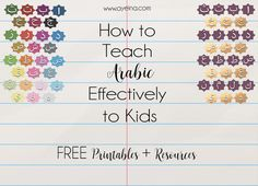 4 steps and a list of resources to help instill the love of Arabic in kids from a very young age - to help them learn and understand Qur'an better once they grow up in shaa Allah. More steps in the next part...