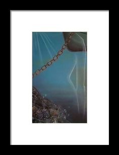 Framed Art Print,  underwater,world,scene,life,ocean,sea,water,,depth,abyss,creature,nautical,spirit,mystery,transparent,chain,rusty,reef,corals,bubbles,blue,fantasy,surreal,beautiful,image,fine,oil,painting,contemporary,scenic,modern,virtual,deviant,wall,art,awesome,cool,artistic,artwork,for,sale,home,office,decor,decoration,decorative,items,ideas