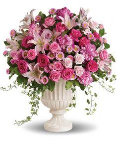 Passionate Pink Garden Arrangement Flowers ♥ Source: Teleflora http://www.teleflora.com