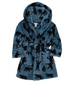 Hatley bears on teal background silky soft robe sizes S (2-4)  M (6-7)   L (8-10) http://www.planetpyjama.com.au/dressing-gowns/