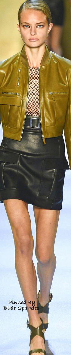 SPRING RTW 2016 (PFW) Mugler ~ Couture Fashion, Paris Fashion, Winter Fashion, Fashion Week 2016, Leather Design, Leather Fashion, Clothes For Women, Spring 2016, How To Wear