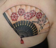 I like this idea of a japanese fan! ~ gallery1 - Tymeless Tattoo