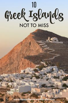 10 Islands Not to Miss in Greece. These will make your heart skip a beat with their achingly lovely landscapes, beaches and towns. From pretty Paros to underrated Naxos, unknown Andros, seductive Amorgos and secluded Folegandros. The hard part is deciding which one to visit. Read at: https://www.themediterraneantraveller.com/10-beautiful-greek-islands/ #greece #greekislands #islands #travel #europe #tmtb