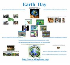 Here's a poster for use on an interactive whiteboard that includes links to best sources on the internet related to Earth Day, including videos, interactive games and activities, websites with great ideas to use in your classroom, and some favorite quotes about caring for the earth.