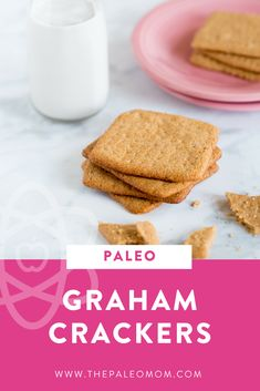 """Sometimes kids (and adults too) miss the """"staples"""" of the Standard American Diet like graham crackers. This is my recipe for a Paleo version of this American """"staple."""""""