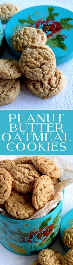 Peanut Butter Oatmeal Cookies - Peanut Butter Oatmeal Cookies are the epitome of nostalgic childhood mom-made and approved after school snacks. Easy, affordable, classic, and delicious!
