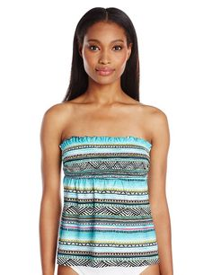 e3b0313613f0b Kenneth Cole Reaction Women s Beach Please Smocked Tankini