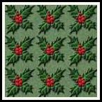 free christmas holly and berries backing paper pack