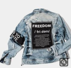 clothes for women,casual outfits,base layer clothing,casual outfits Painted Denim Jacket, Denim Jacket Men, Custom Clothes, Diy Clothes, Online Clothes, Denim Fashion, Fashion Outfits, Fashion Fashion, Luxury Fashion