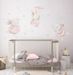 Fabric Wall Decal BALLERINAS Nursery wall decal Watercolor | Etsy