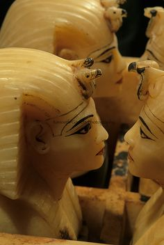 Egypt's Valley of the Kings, Alabaster container with stoppers, Tomb of Tutankhamun, Egyptian Museum, Cairo