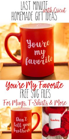 You're my favorite Don't tell your brothers - Last minute Cricut Christmas Gift . - You're my favorite Don't tell your brothers – Last minute Cricut Christmas Gift Ideas and Eas - Easy Homemade Christmas Gifts, Christmas Gifts For Sister, Teacher Christmas Gifts, Homemade Gifts, Diy Gifts, Christmas Diy, Christmas Fonts, Sister Gifts, Teacher Gifts