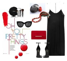 """Red and Black Glamour!"" by msbsdesigns on Polyvore featuring Topshop, NARS Cosmetics, Dion Lee, Chanel and Yves Saint Laurent"