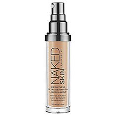LOVE...super light weight formula...but can be built on for greater coverage...Urban Decay - Naked Skin Weightless Ultra Definition Liquid Makeup  #sephora