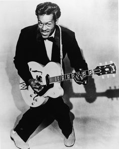 """CHUCK BERRY signed """"Father of Rock N Roll"""" autographed 11x14 guitar photo! PROOF"""