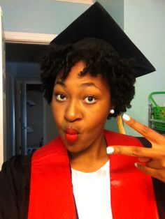 natural hairstyles with marley hair : Graduation hair! Gotta keep that cap on! #MSW More