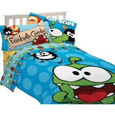 Cut the Rope Om Nom Candy Bedding Comforter