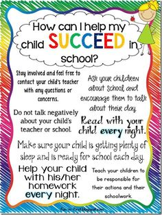 Fun in First Grade: Tips for Parents.How to Help My Child Succeed. Perfect handouts for Back to School Night. Back To School Photos, Back To School Night, Summer School, First Day In School, Middle School, Parent Teacher Communication, Parent Teacher Conferences, Parent Involvement Ideas, Education Positive