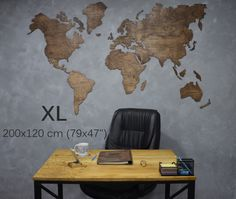 Wall Art – Travel Map of the World Wooden Wall Map Decor – a unique product by Enjoythewood on DaWanda