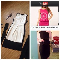 DIY peplum dress. *kgistine Diy Dress, Peplum Dress, Diy Fashion, Sewing Projects, Two Piece Skirt Set, Skirts, How To Make, Dresses, Vestidos