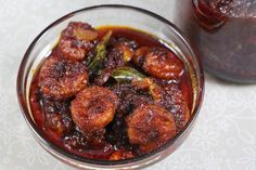 This is a prawn pickle that has a sweet, spicy and a tangy flavor. Usually, this pickle is prepared and kept for the rainy season when fresh fish is not available. Goan Recipes, Fried Fish Recipes, Veg Recipes, Seafood Recipes, Indian Food Recipes, Cooking Recipes, Ethnic Recipes, Recipies, Kerala Recipes