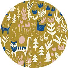 "Leah Duncan for Cloud9, ORGANIC, Lore, Lions Tigers and Bears Gold  Fabric is sold by the 1/2 Yard. For example, if you would like to purchase 1 Yard, you would enter 2 in the Qty. box at Checkout. Yardage is cut in one continuous piece.  Examples:  1/2 yard = 1 1 yard = 2 1 1/2 yards = 3 2 yards = 4   1/2 Yard Measures 18"" x 44/45""   Fiber Content: 100% Organic Cotton  Hover over image for a larger, better view.  Care Instructions: To increase the longevity of your fabrics, hand-wash,  or…"