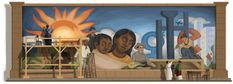 Google. Doodle publicado un 8 de diciembre. Nacimiento de Diego Rivera