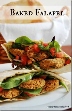 Baked Falafel--I tried these and they were perfect!  Added 1/2 red onion and extra garlic.