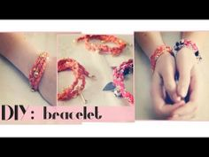 DIY : braided bracelet with chain and charms