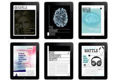 aCapella Ipad Magazine by Lizzy Showman, via Behance