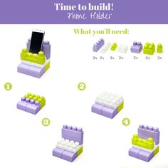 Looking for something to build today? Here's how to build a Phone Holder! #TimeToBuild #MegaBloks #Activities #Phone #Building #DIY