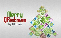 Creative Christmas tree full of QR codes by iQR codes application.