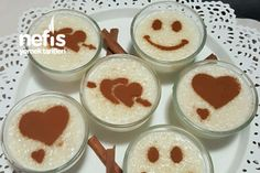 Mother Rice Pudding (In Full Consistency) - Delicious Recipes , Pudding Desserts, Dessert Recipes, Pudding Recipes, Baklava Recipe, Good Food, Yummy Food, Food Decoration, Snacks, Food Art