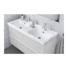 ODENSVIK Dupla mosdó - 120x49x6 cm, - - IKEA