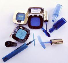 Ci vuole sempre un tocco di blu! #makeup #blu #loreal #smalto #eyeliner #ombretto #eyes #nails #tigotà #mascara