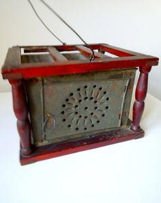 Antique Pierced Tin Foot Warmer