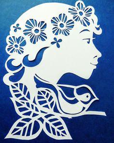 Stencils, Bird Stencil, Origami And Kirigami, Silhouette Clip Art, Paper Magic, Stencil Patterns, 3d Cards, Paper Stars, Paper Flowers Diy