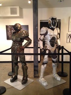 Cherno Alpha and Gipsy Danger Drivesuits @ The Art of Pacific Rim, Gnomon Gallery, Hollywood, CA