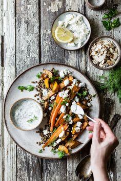 Roasted Beet & Carrot Lentil Salad with Feta, Yogurt & Dill | The Bojon Gourmet