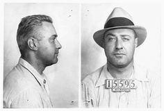 George 'Machine Gun' Kelly, the notorious racketeer who gave FBI agents the nickname G-men, was photographed by Tennessee cops in September 1933 after his arrest for kidnapping a wealthy Oklahoma oil man. Found guilty of that crime, Kelly was sentenced to life in prison, where he died of a heart attack in July 1954.