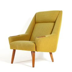 Mid Century Retro Danish Beechwood Buttoned Brown Leather Easy Armchair  1960 70s | Small Space | Pinterest | Armchairs, Danish And Mid Century