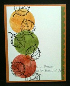 stampin up gently falling cards | Stampin' In My Neighborhood Pumpkin Cards, Paper Pumpkin, Making Greeting Cards, Greeting Cards Handmade, Thanksgiving Cards, Holiday Cards, Christmas Cards, Leaf Cards, Thanks Card