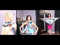 If you have lovely SQUARE scarves, this video is full of great ways to wear/use a square silk scarf.  Really good!