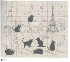 Blackwork Embroidery, Embroidery Hoop Art, Cross Stitch Embroidery, Cross Stitch Charts, Cross Stitch Patterns, Cat Silhouette, Cross Stitch Animals, Knitting Charts, Cat Pattern