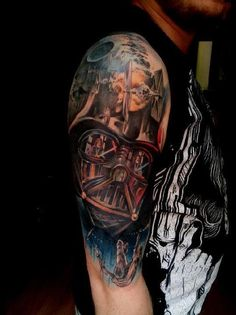 Tattoo of Darth Vader. Incredible.