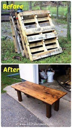 DIY Oak and Pine Pallet Table | 101 Pallet Ideas - DIY hacks from Free #pallets