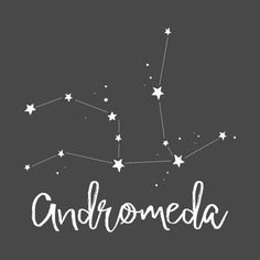 Check out this awesome 'Andromeda+constellation' design on Constellation Drawing, Andromeda Constellation, Andromeda Galaxy, Constellation Tattoos, Star Tattoos, Body Art Tattoos, I Tattoo, Tatoos, Drawing Stars