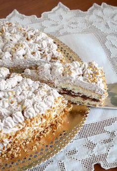 Nutella and cream cake