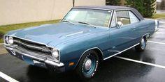 Blue 1969 Dodge Dart GTS Hardtop